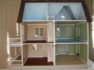 victoria's farmhouse floor plan idea.   dollhouse