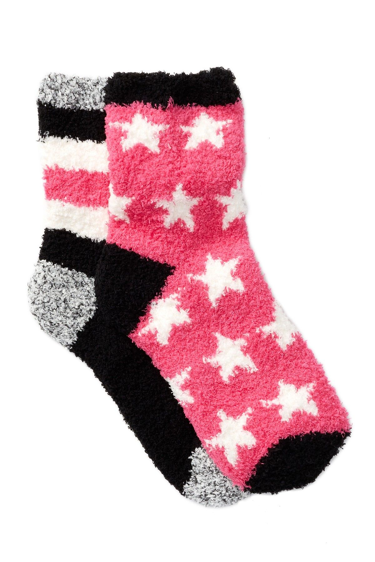 Free Press Patterned Fuzzy Socks - Pack of 2   Socks, Nordstrom and ...