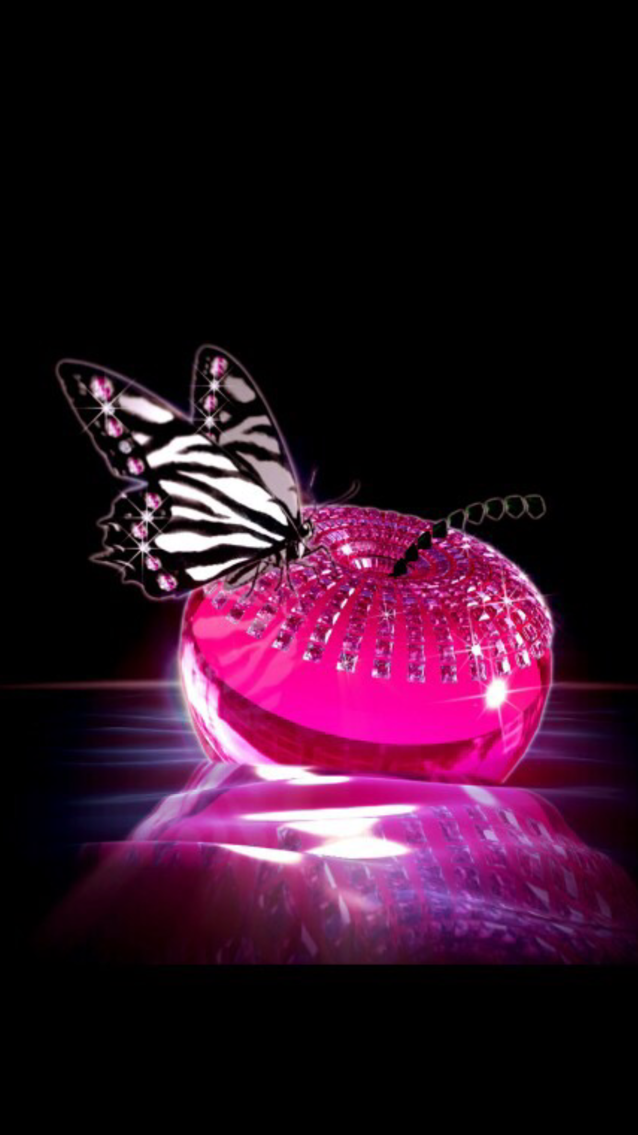 Black and pink Pink wallpaper iphone, Dragonfly