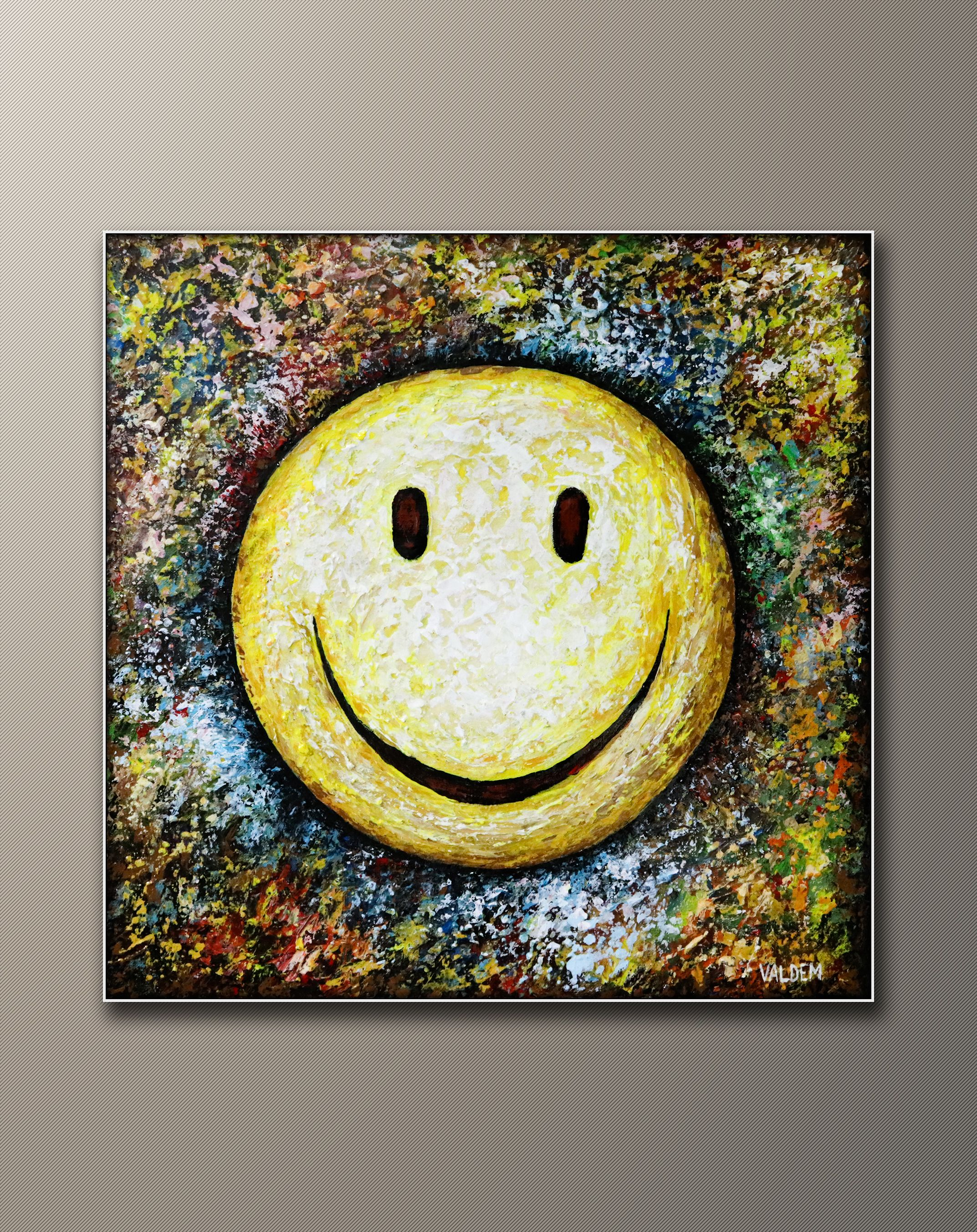 Smiley #modernart #smile #painting #happy #oilpainting