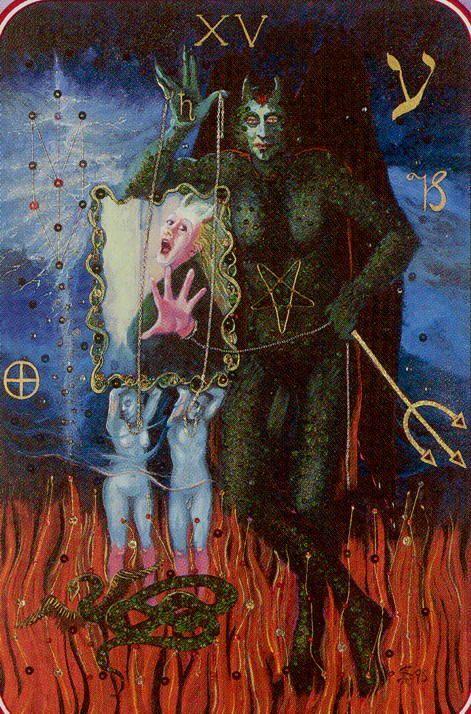 """""""Major Arcana Card No., XV. The Devil of The Tarot !"""""""