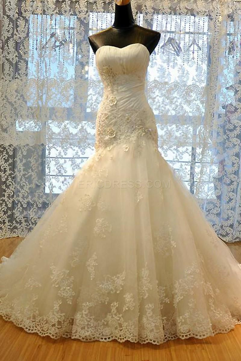 Amazing appliques sweetheart sheath wedding dress wedding dress