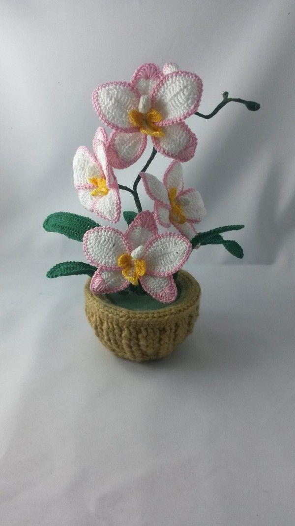 Photo of Häkeln Orchideen // Häkeln Topf Blumen / Dekoration