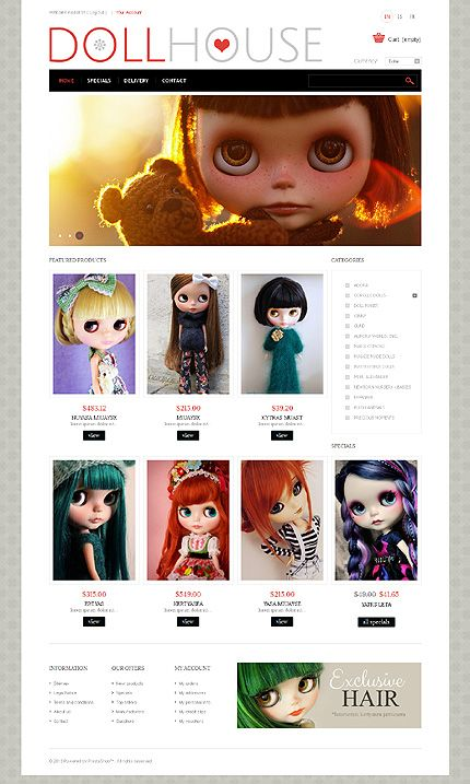 Doll House Prestashop Theme  Template And Website