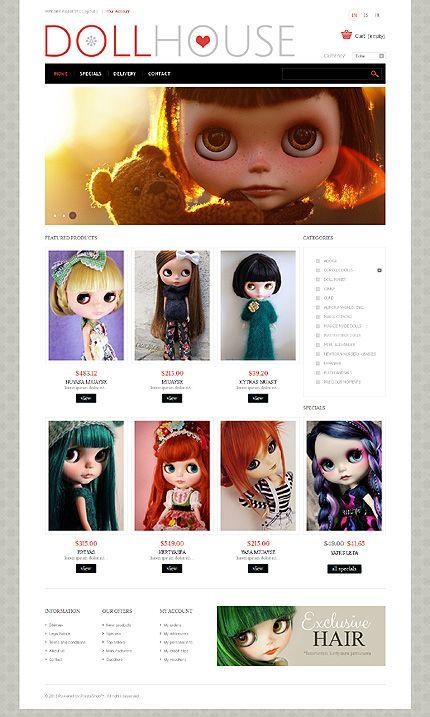 Doll House Prestashop Theme  Template And Website