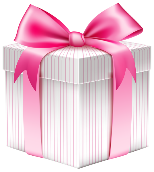 White Striped Gift Box PNG Picture | Planner Happiness ...