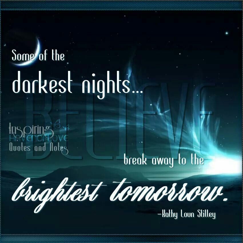Some of the darkest nights