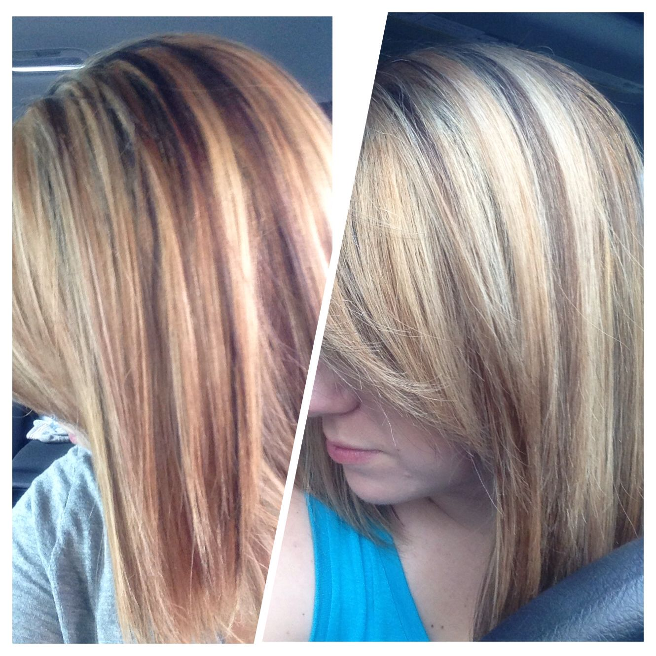Before and after wella t18 t11 toner blonde toner