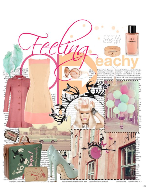"""""""Feeling Peachy"""" by veronica-sinetti on Polyvore"""
