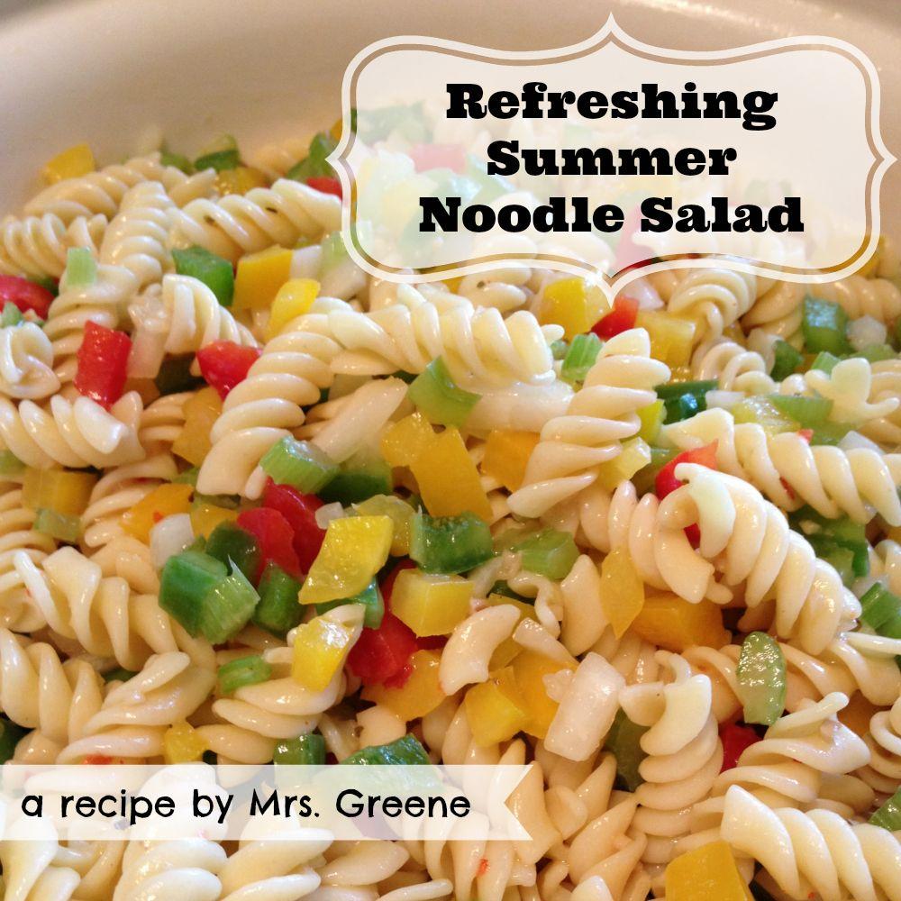 Refreshing Summer Noodle Salad Cookout Food Recipes Food