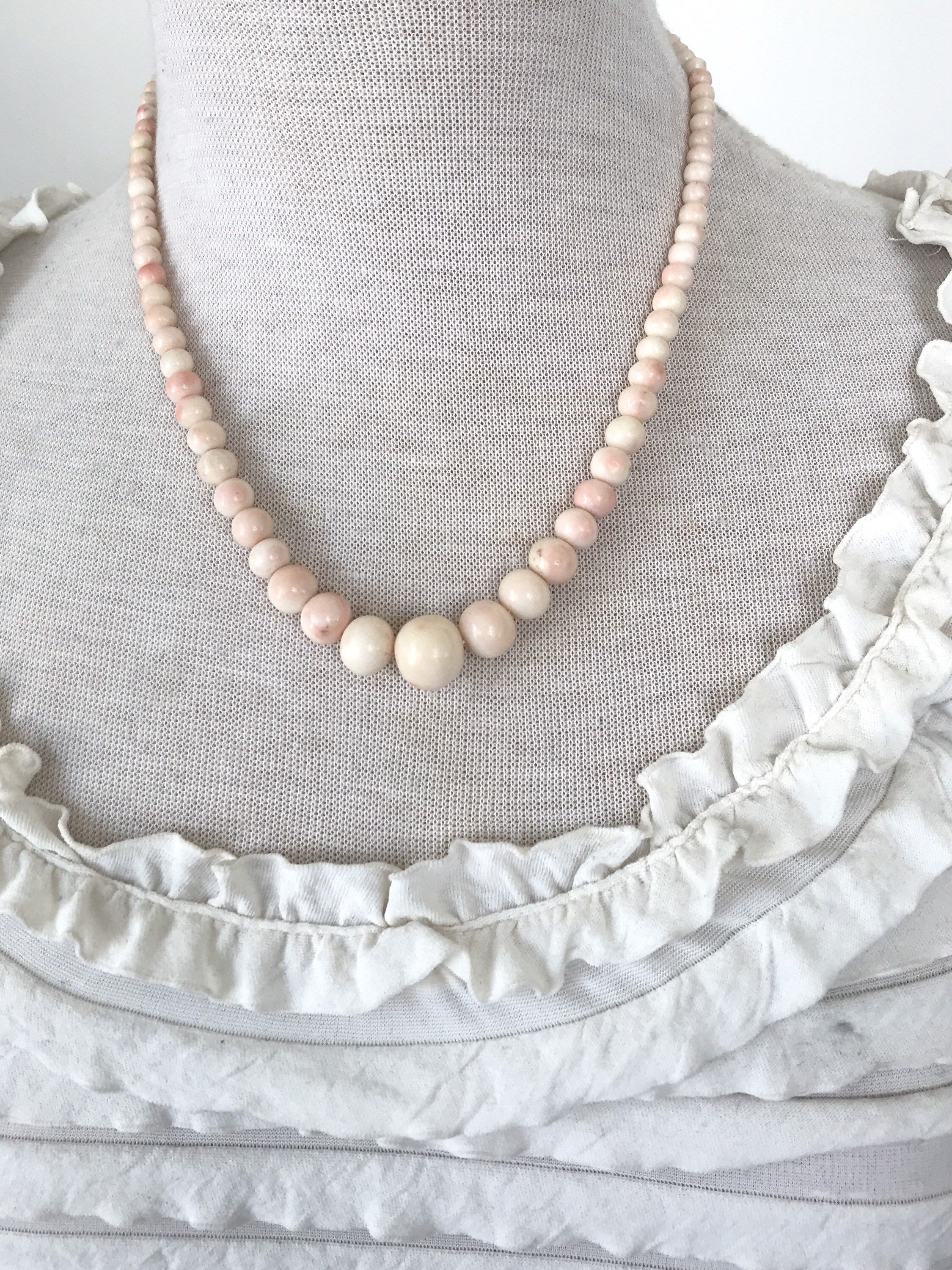 Ivory and Silver Speciality Pearls Pendant Sterling Silver Necklace. Natural Pink Speciality Pearls Necklace