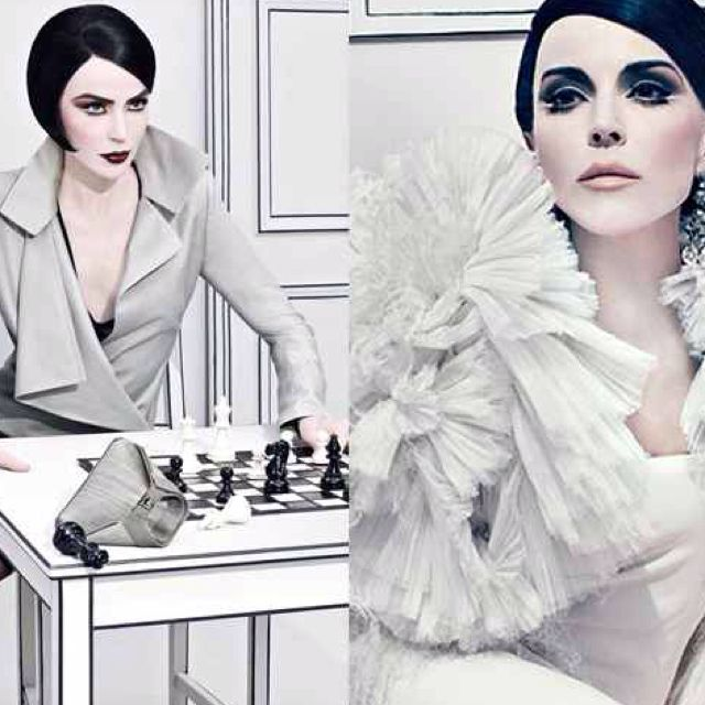 Daphne Guinness in Black Bob, #StevenKlein Italian Vogue.