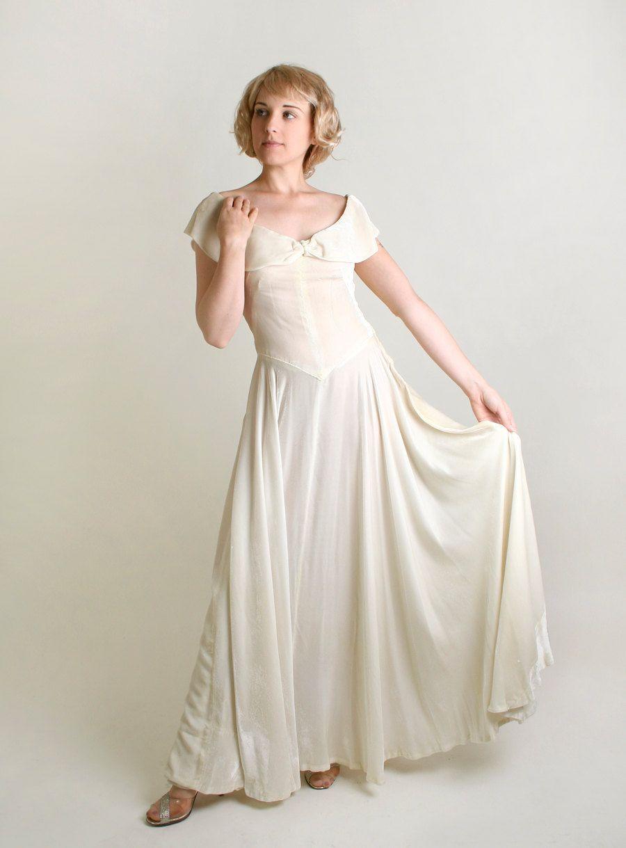 Reserved 1930s White Velvet Gown Vintage Ivory Wedding Etsy Velvet Gown White Velvet Gown Ivory Wedding Dress [ 1219 x 900 Pixel ]