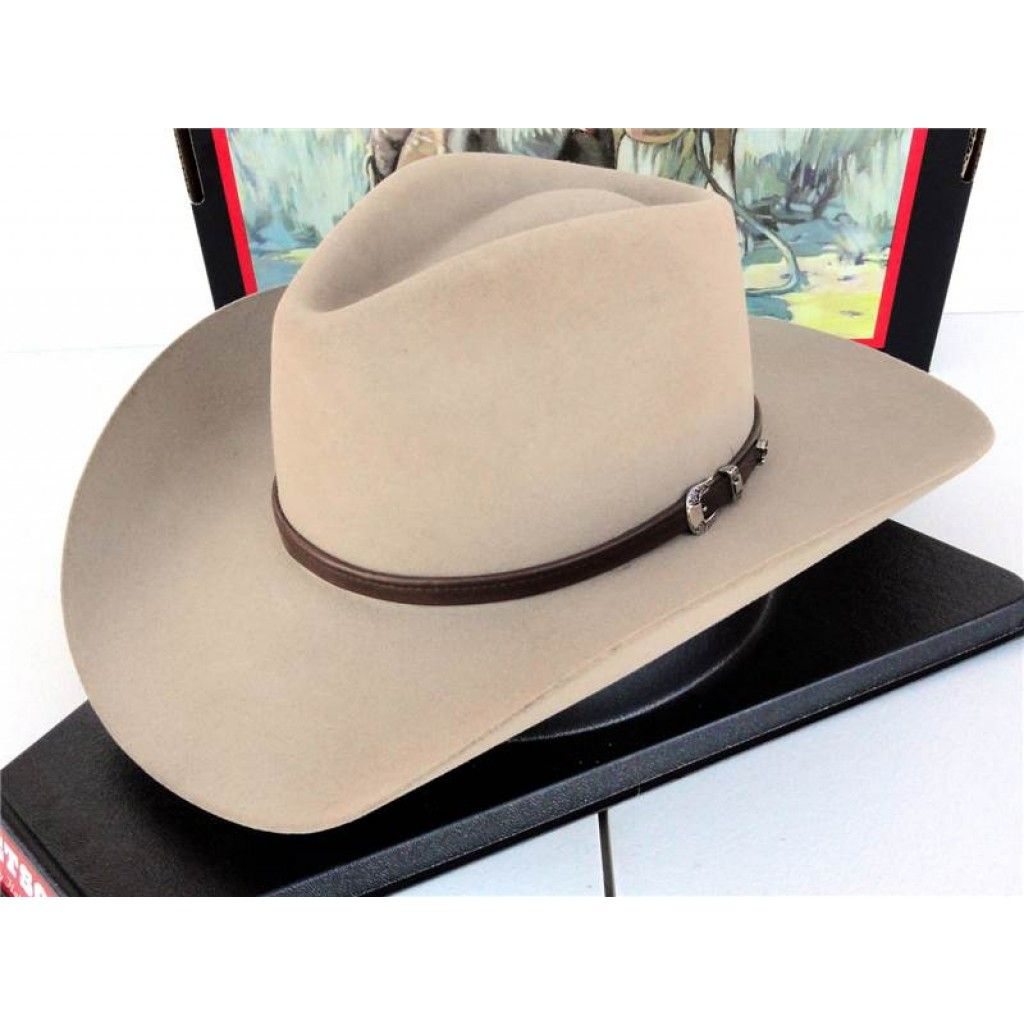 f37476d458ae1c Stetson Cowboy Hat 4X Buffalo Fur Felt Silver Sand Seneca | Slim ...