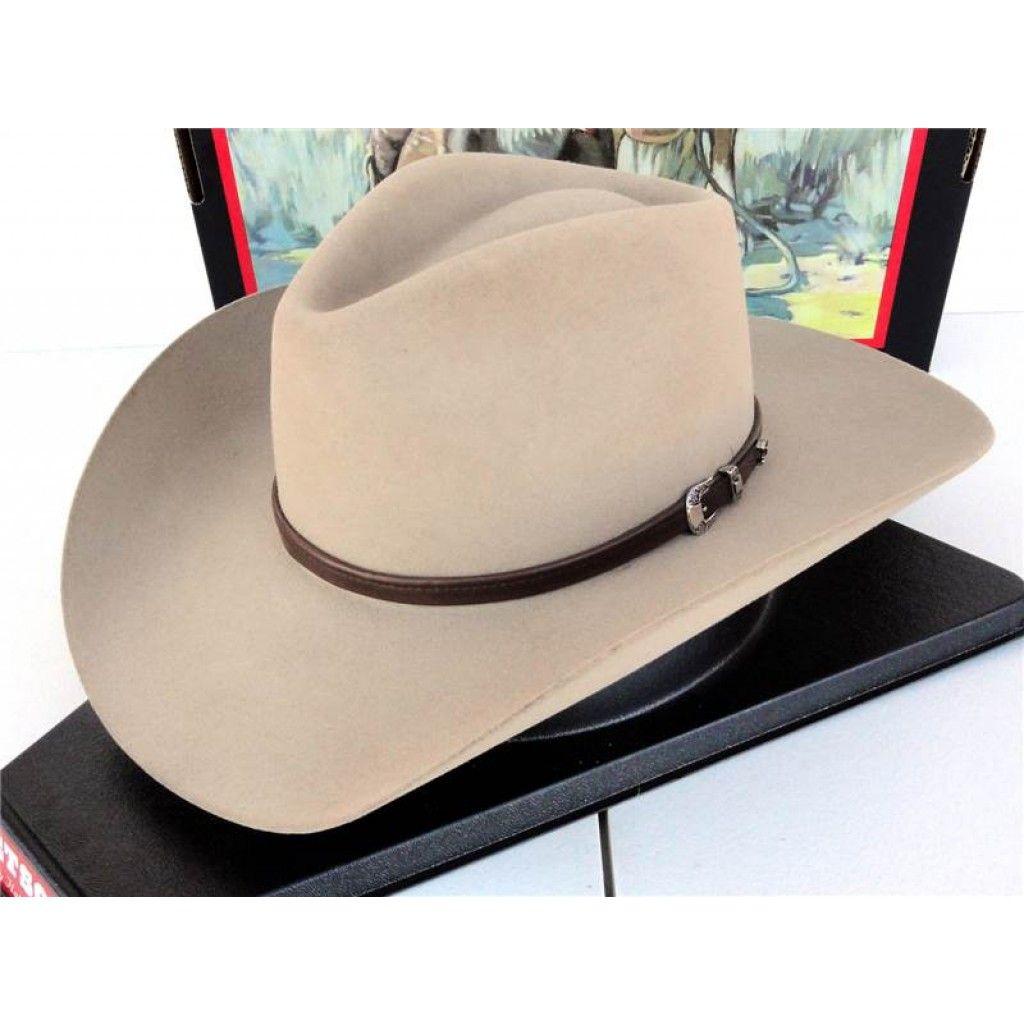 Stetson Cowboy Hat 4X Buffalo Fur Felt Silver Sand Seneca Sombreros Hombre aff902b35a6