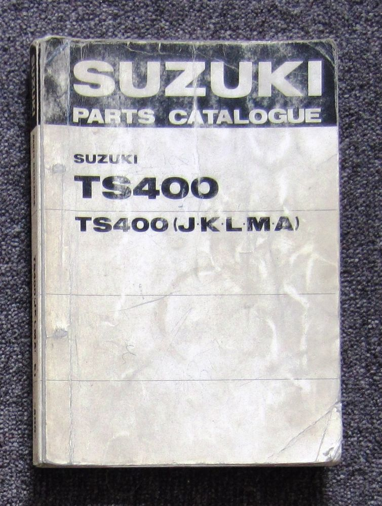 Suzuki Ts400 1971 75 Workshop Parts Manual For Ts 400 Owners