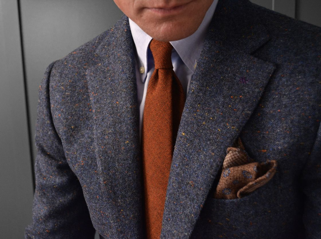 Flannel shirt under suit  CHRISTMAS  Donegal tweed jacket worn with our oxford cotton
