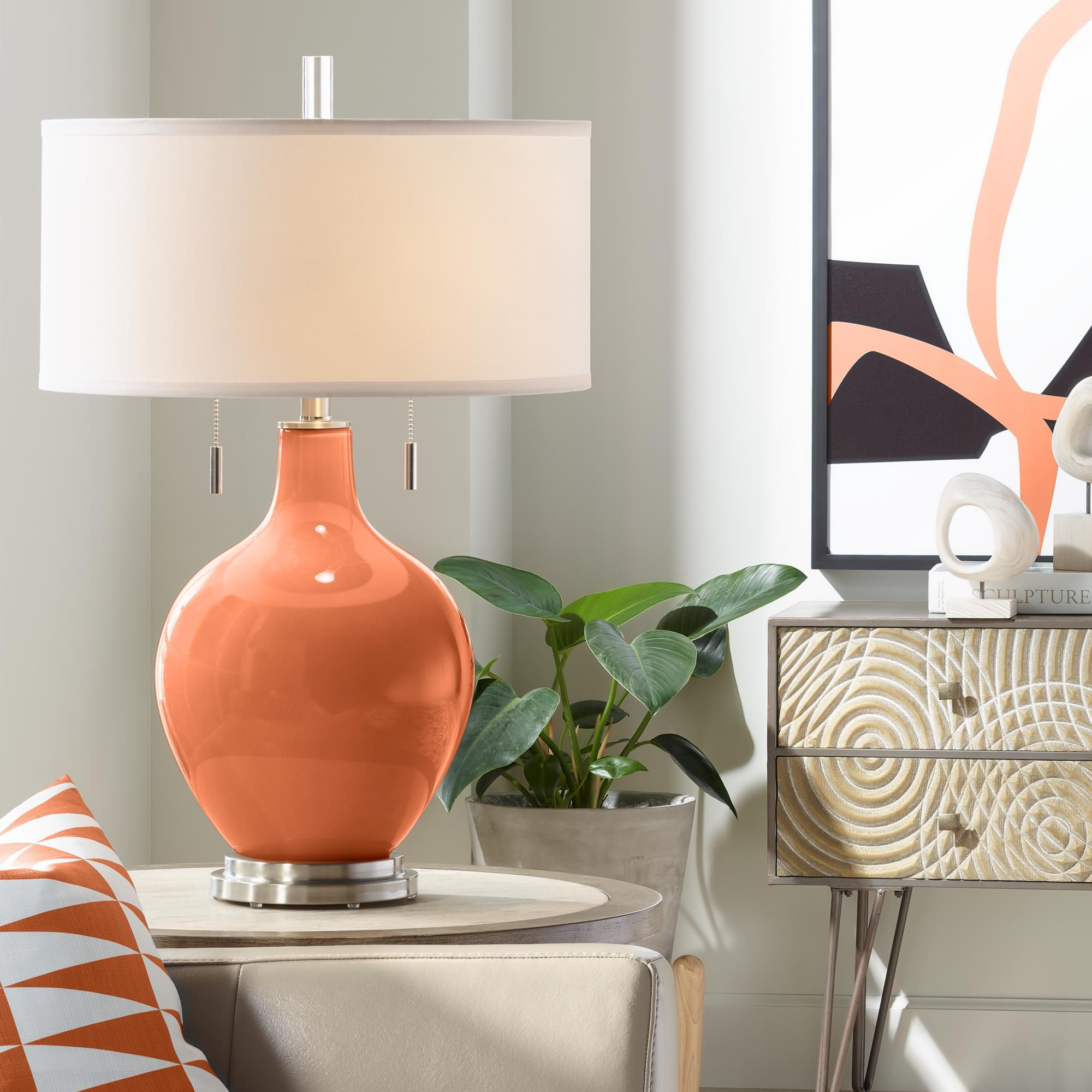Table Lamps Robust Orange Toby Table Lamp In 2020 Modern Table Lamp Table Lamps Living Room Table Lamp #table #lamps #ideas #for #living #room