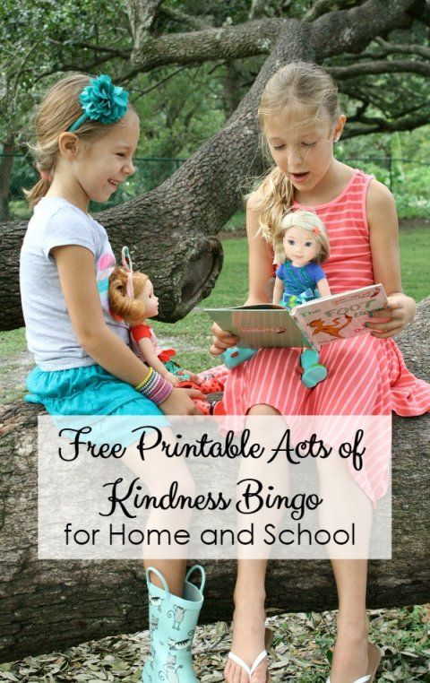 Free Printable Acts of Kindness Bingo for Home and School. How we're using the American Girl WellieWishers to spread kindness