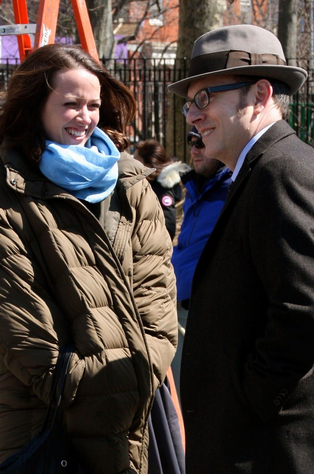 Michael Emerson with Amy on the set of Person Of Interest
