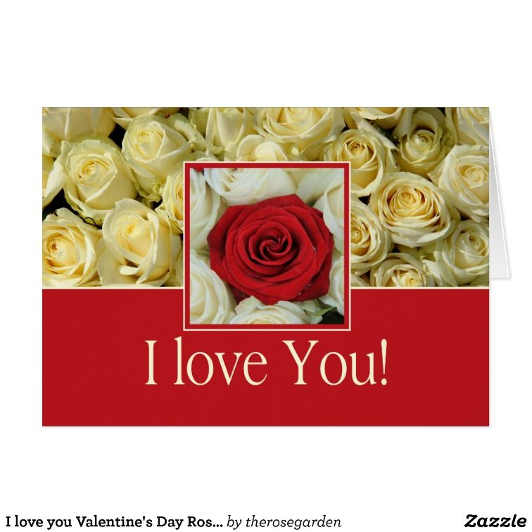 I love you valentines day roses happy