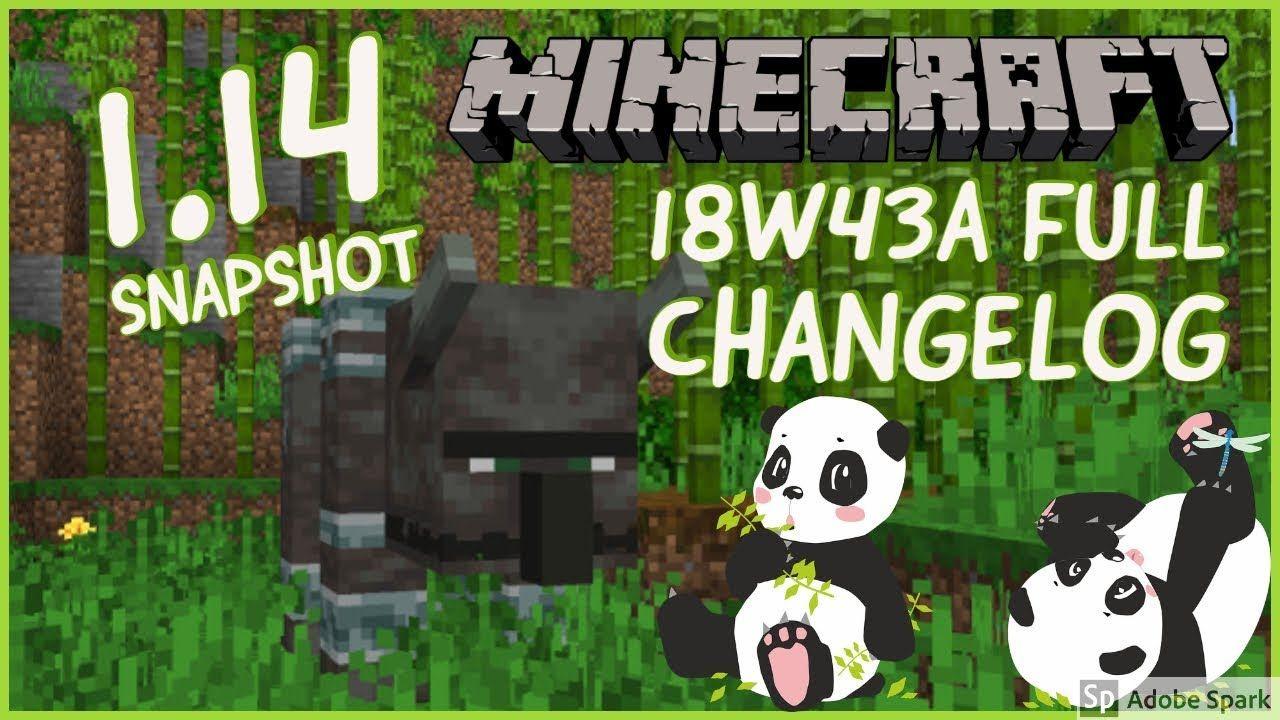 minecraft 1.14 snapshot 18w43a download