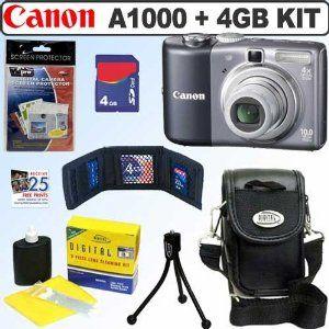 Canon Powershot A1000 Is 10mp Digital Camera Grey 4gb Accessory Kit Electronics Http 234 Powertooldragon Com Re Digital Camera Powershot Canon Powershot