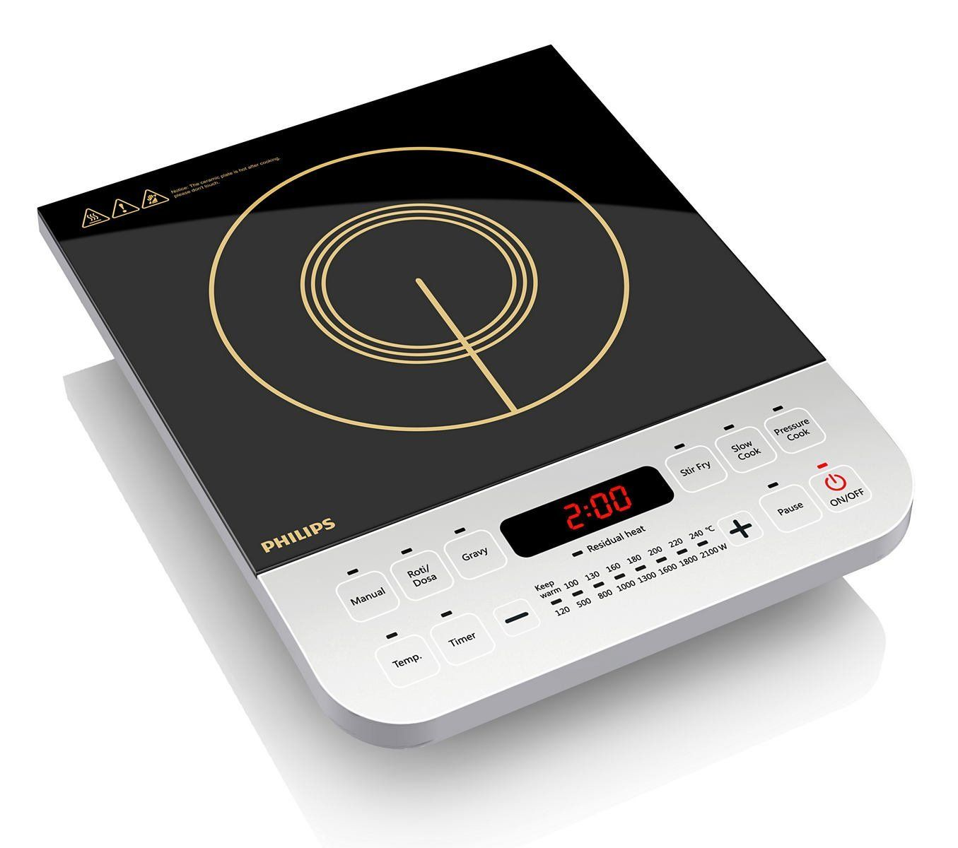 Best Rated Induction Ranges 2020 Philips Viva Collection HD4928 2100 Watt Induction Cooktop (Black