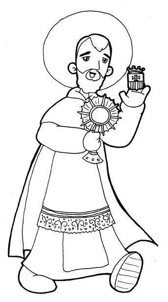 Saint Ramón Nonato protect of the unborn coloring pages | All Saints ...