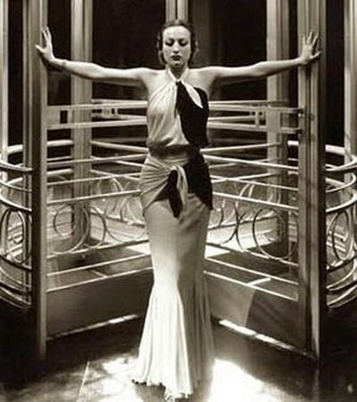 1930's fashion - model looks like Joan Crawford?