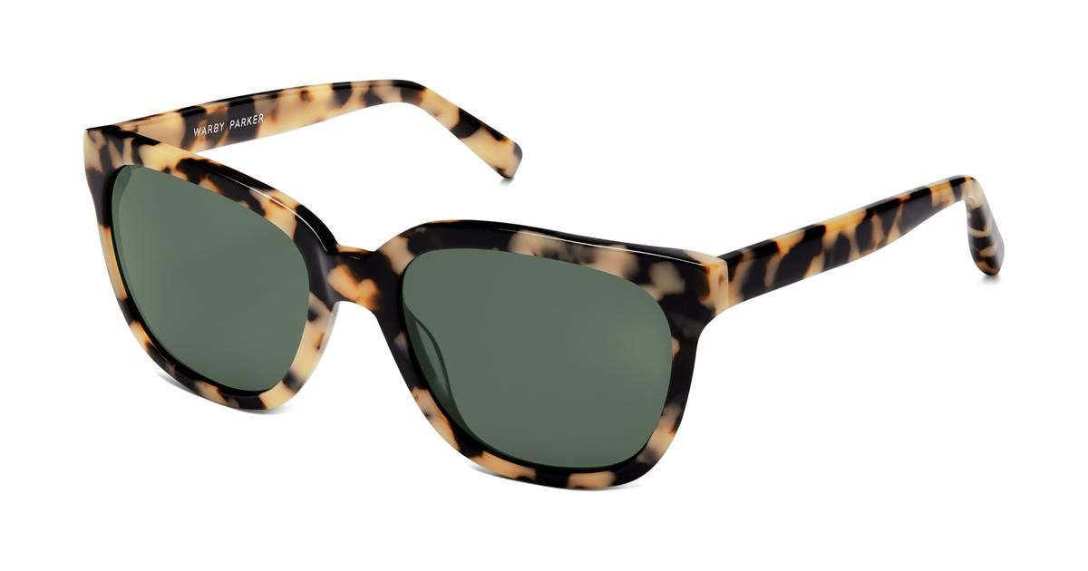 f3b453e07f Reilly Sunglasses in Marzipan Tortoise with Green-Grey lenses for Women.  Reilly is oversized but fits just right  a flattering browline punches up  your look ...