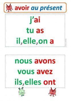 Conjuguer Etre Et Avoir Au Present L Enseignement Du Francais Verbe Etre Et Avoir Et Verbe Etre Present