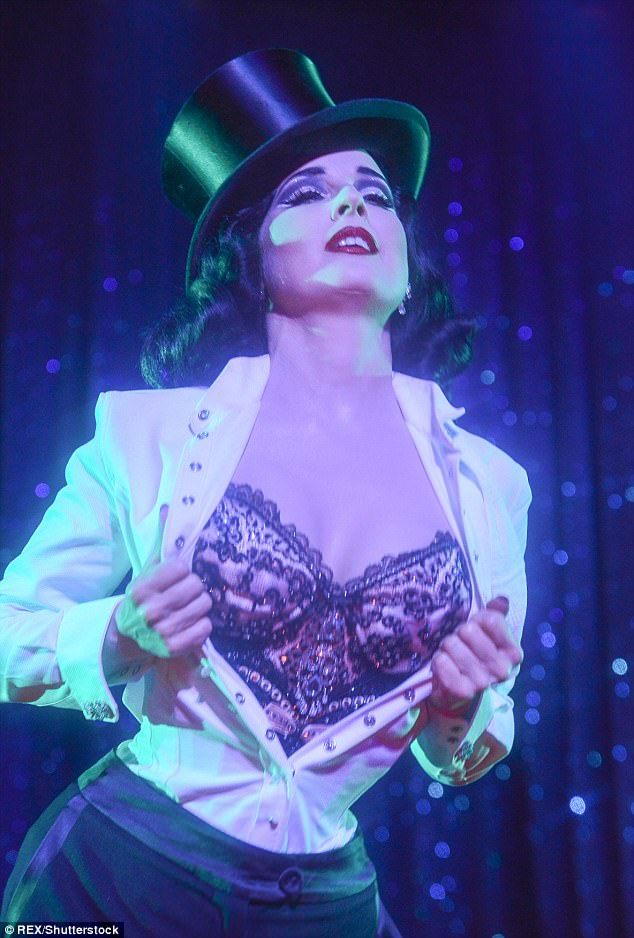 Empowering: Burlesque Queen Dita Von Teese has revealed the artform, which had its roots i...