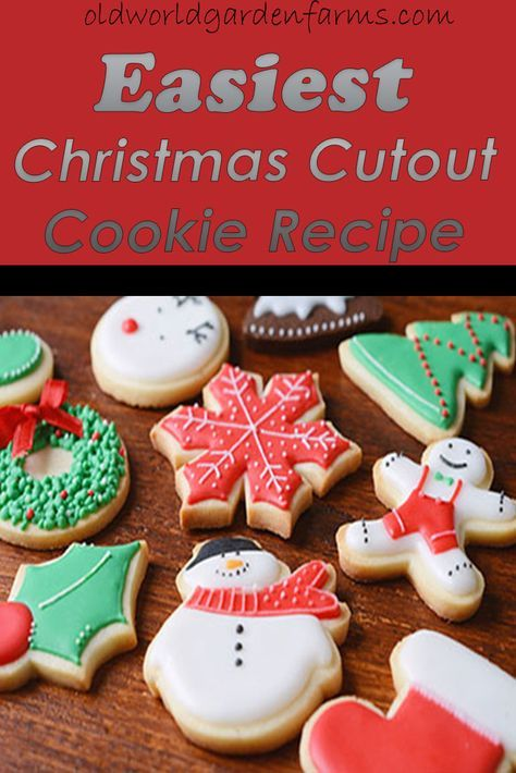 Christmas Cutout Cookies.Easiest Christmas Cutout Cookie