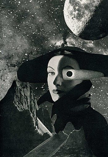 Eyeclipse, 2008 collage by Angelica Paez