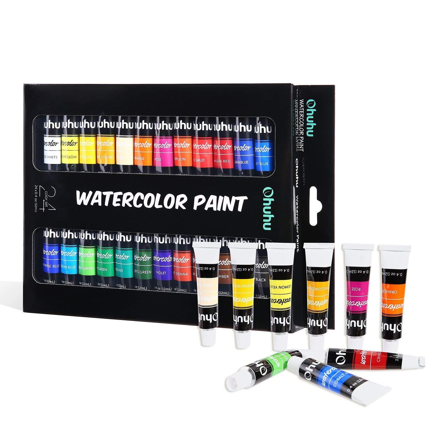 Watercolor Paint Tubes 24 Water Colors Ohuhu Art Watercolors