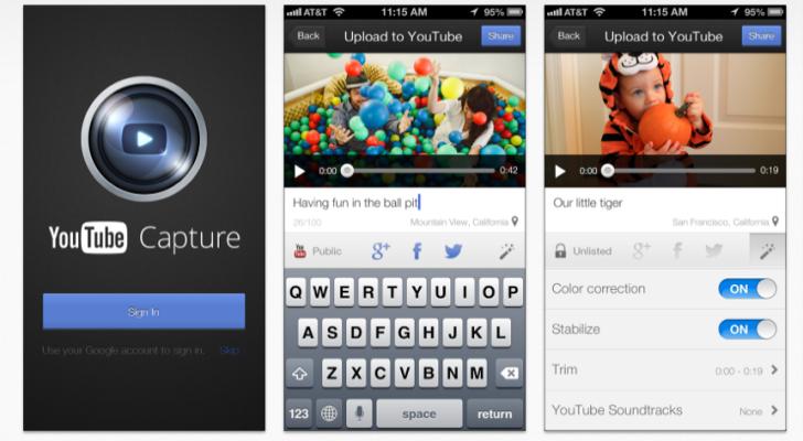 Youtube Capture, la nueva aplicación de Youtube 'a lo Instagram' | Menudos Trastos