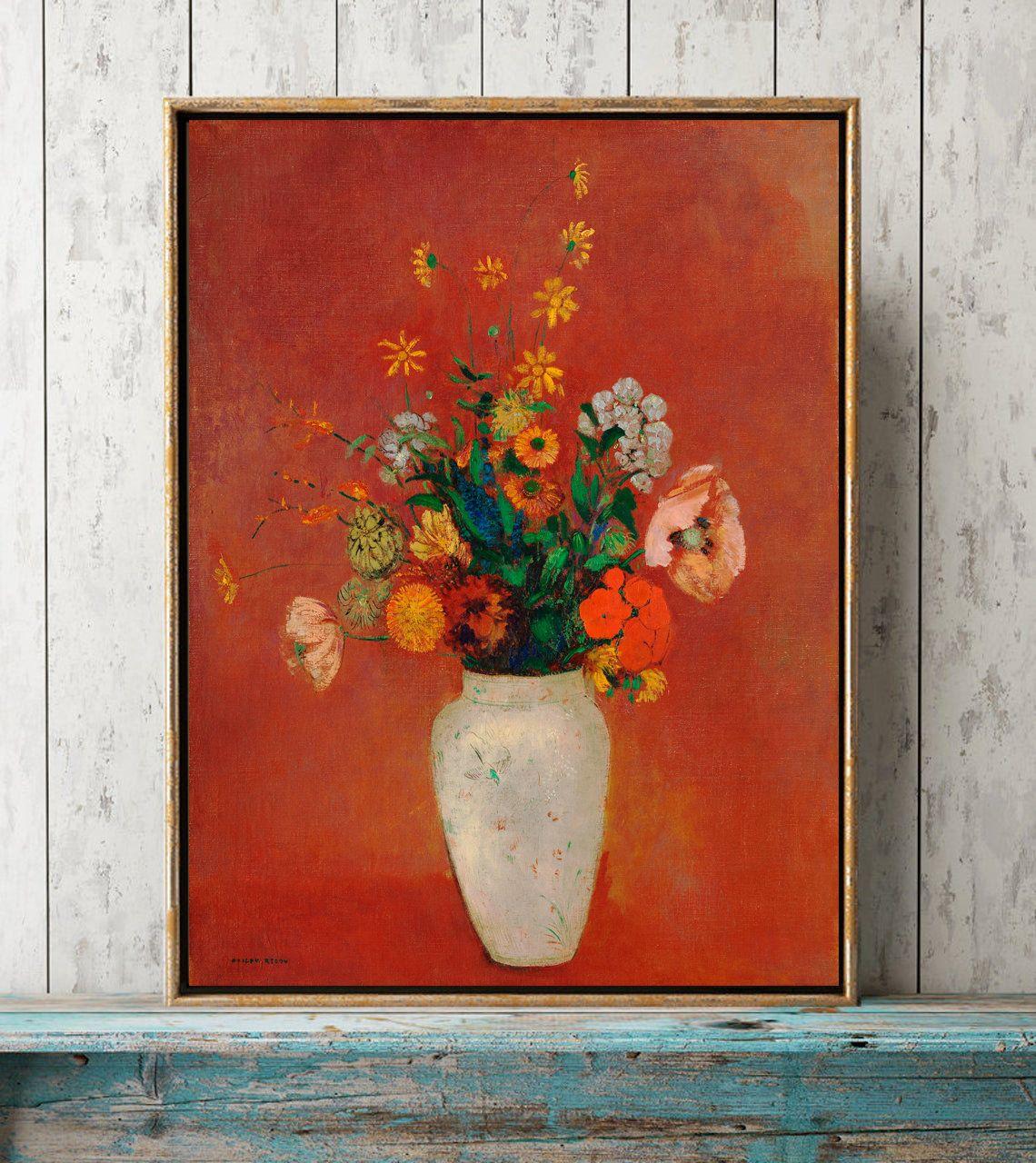 Flowers Odilon Redon Art Print Framed Poster Wall Decor