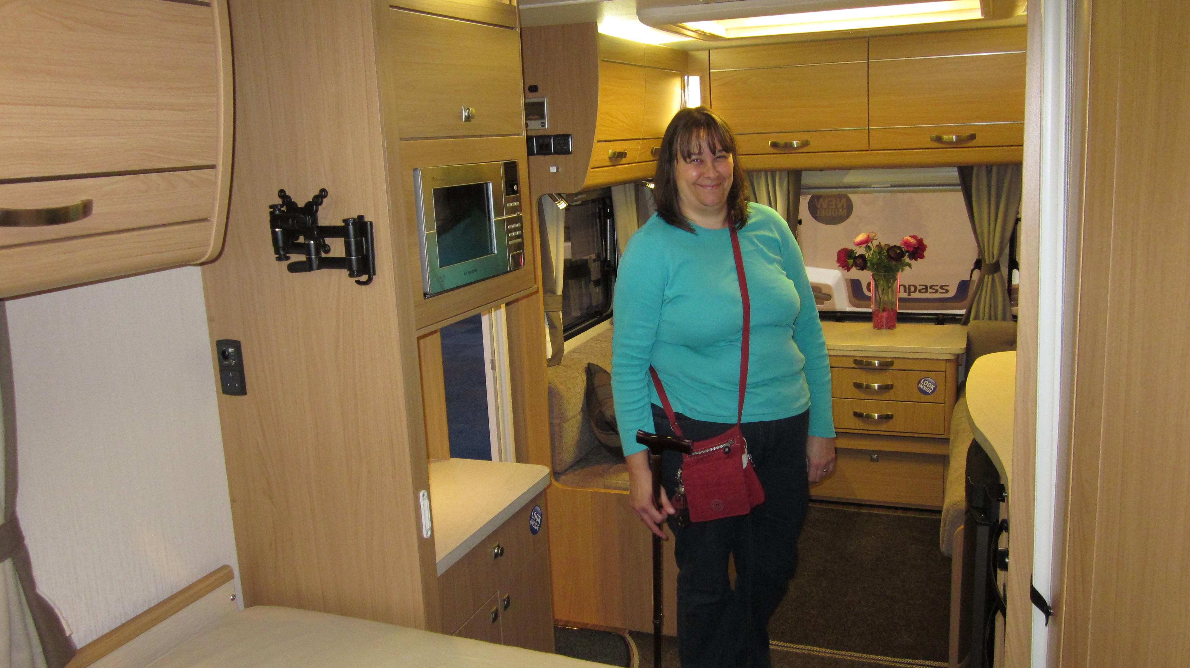 Compass Omega 540 The Interior Of This Caravan Again Gives A Warm