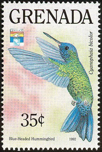 Blue-headed Hummingbird stamps - mainly images - gallery format