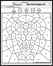 Color By Shapes Easy Coloring Pages Coloring Pages Easy Coloring Pages Shapes