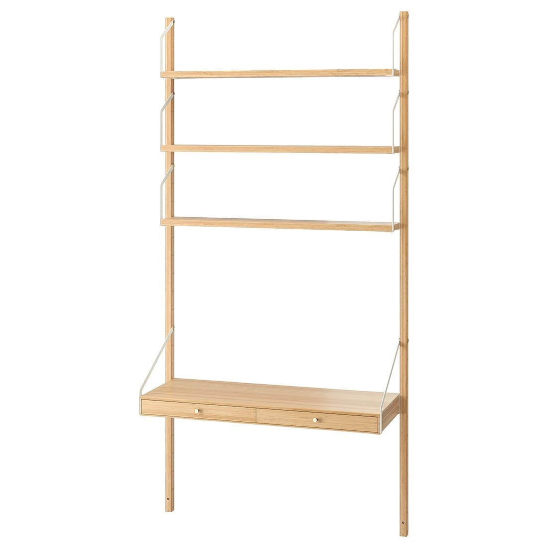 Svalnas Wall Mounted Storage Combination Bamboo 33 7 8x13 3 4x69