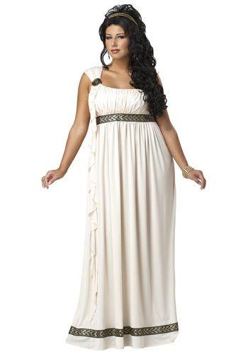 Plus Size Olympic Goddess Costume Greek goddess costume, Goddess - halloween costume ideas plus size