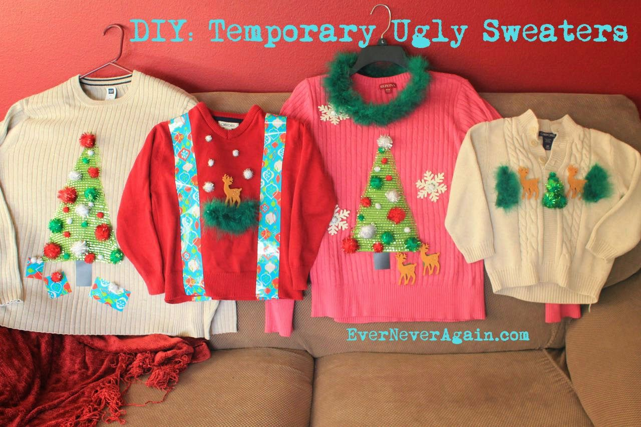 DIY Temporary Ugly Christmas Sweaters | DIY Projects