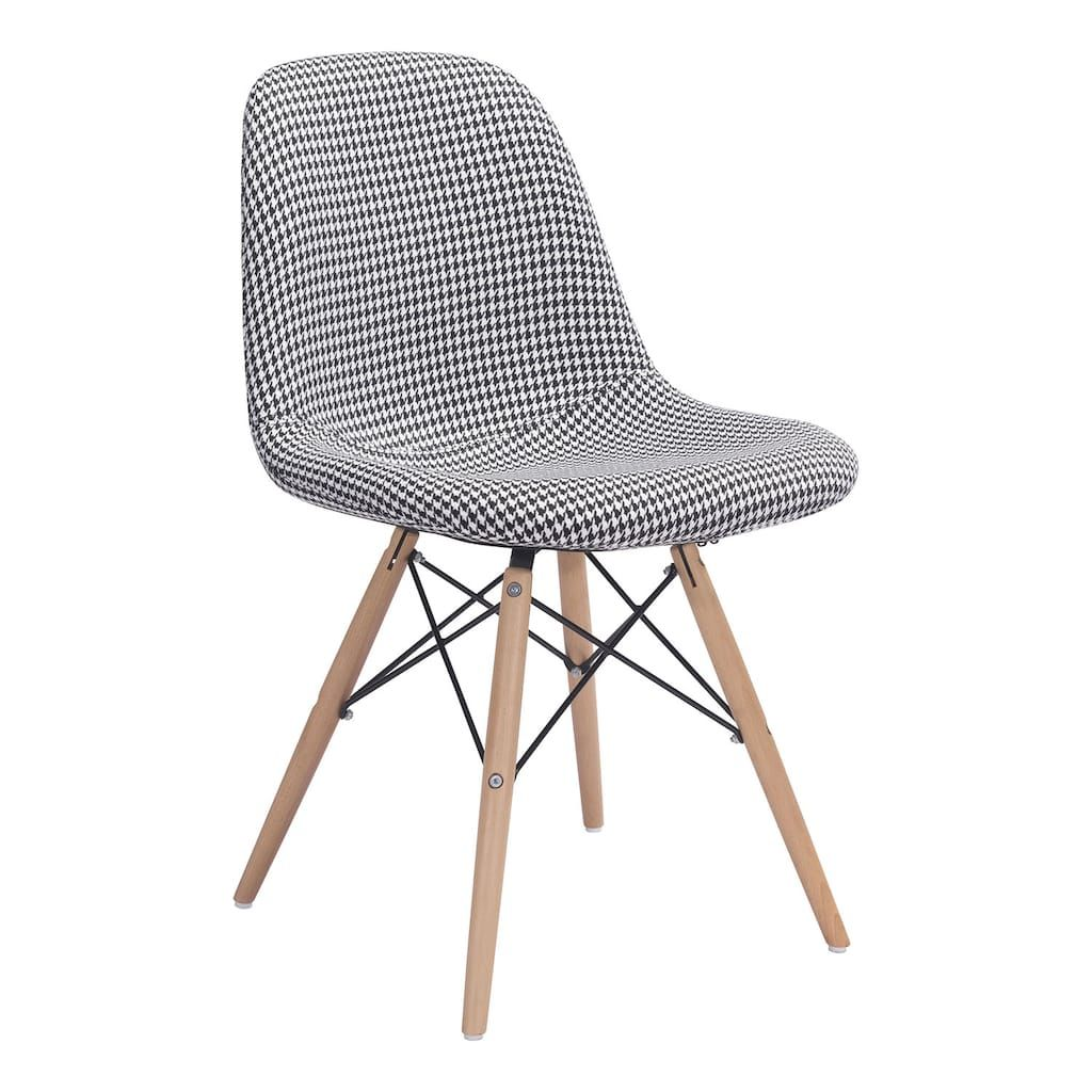 Zuo Modern Sappy Houndstooth Upholstered Dining Chair Modern