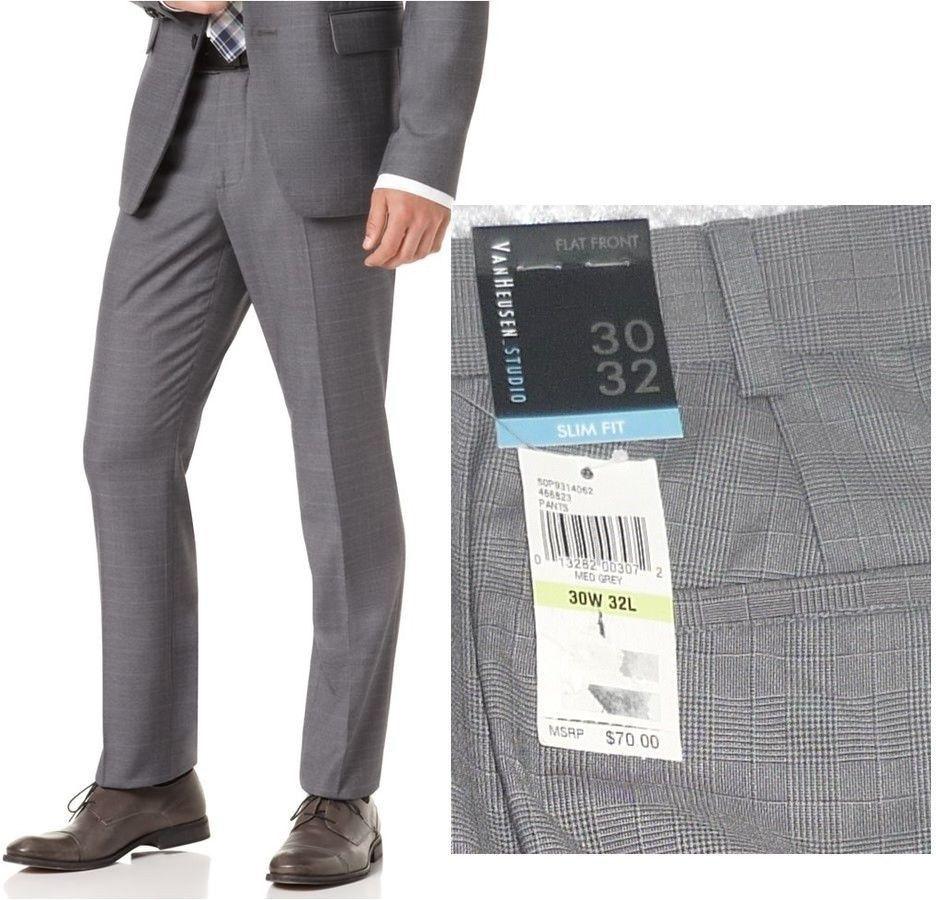 791e552b8041c Pin by Uzi Nugget on van heusen | Slim fit pants, Pleated pants, Pants