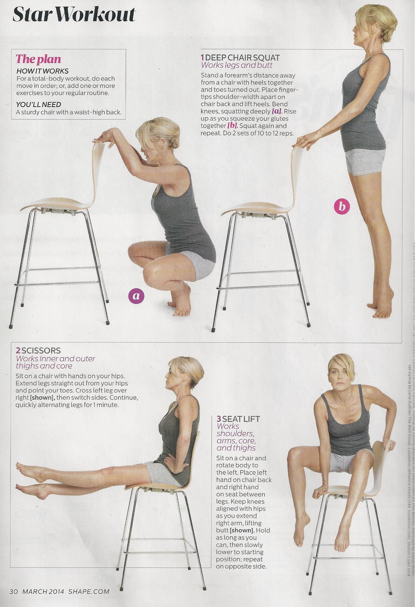 Sharon Stone Shape Magazine 2014