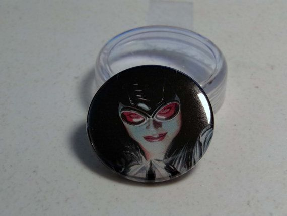 "Comic Book 1.5"" Button// Catwoman, $1.00"