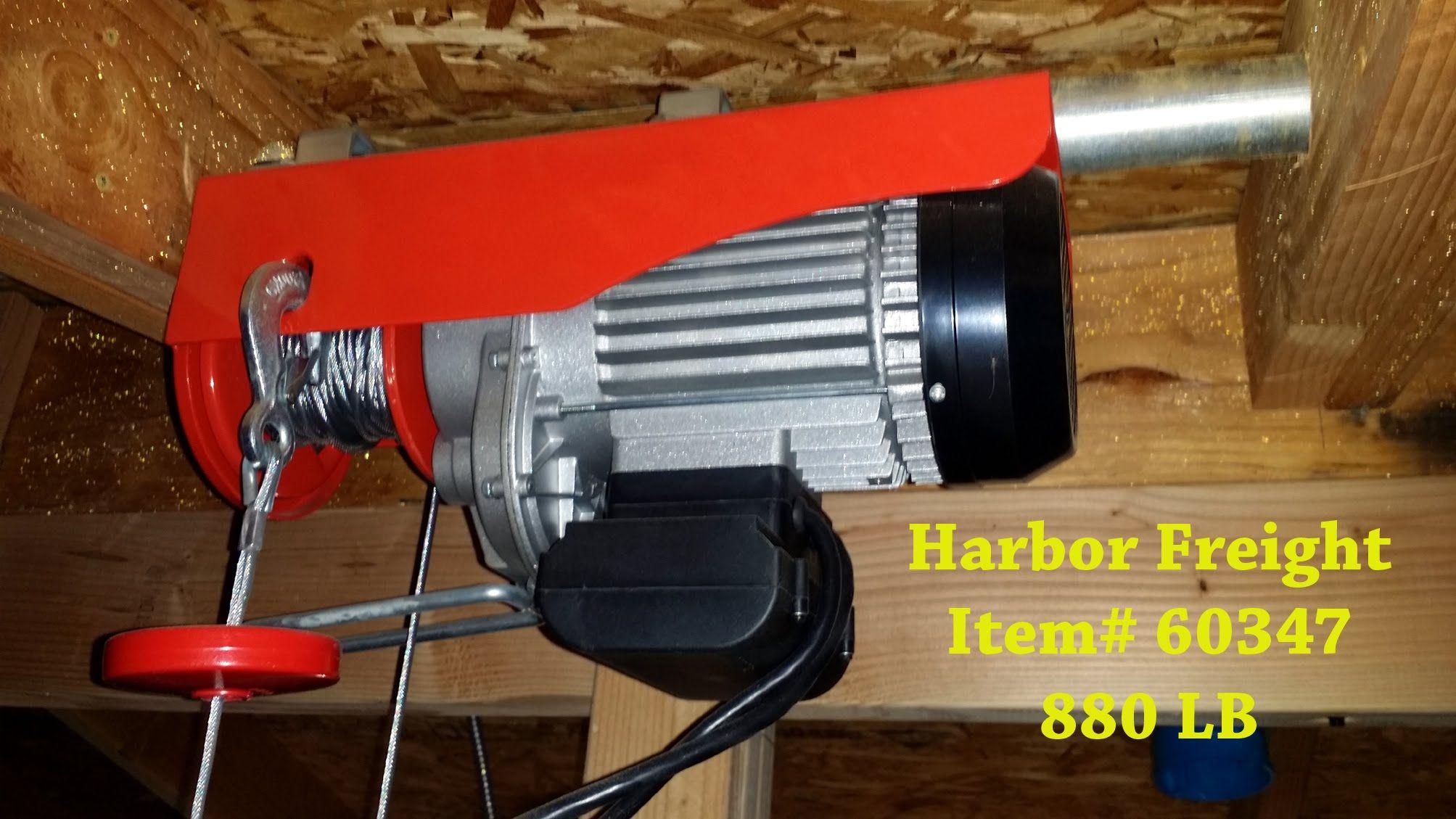 Harbor Freight 60347 880 LB winch | CARPENTRY TUTORIALS