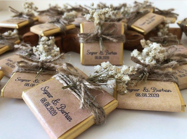 Wedding Favors For Guest Engagement Chocolate Wedding Candy Etsy In 2020 Wedding Favors For Guests Handmade Wedding Favours Chocolate Wedding Favors